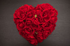 Coeur rouge des roses Images stock