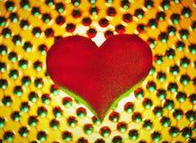 Coeur rouge en soie Images libres de droits