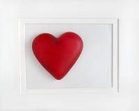 Coeur rouge encadré Photographie stock libre de droits