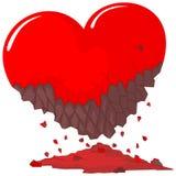 Coeur rouge endommagé illustration de vecteur
