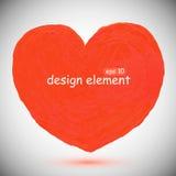Coeur rouge et rouge Image libre de droits