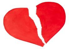 Coeur rouge fait de papier déchiré Image libre de droits