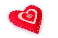 Coeur rouge jouet mou Images libres de droits