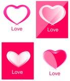 Coeur rouge Logo Set Collection Photo libre de droits