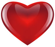 Coeur rouge lustré Image libre de droits