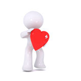 Coeur rouge meurtri Image stock