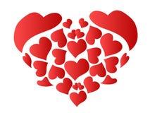 Coeur rouge modelé Images libres de droits