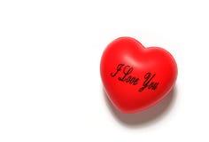 Coeur rouge mou Images libres de droits