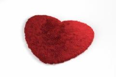 Coeur rouge pelucheux Photographie stock