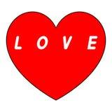 Coeur rouge pour le jour des femmes avec le chemin noir et le blanc un insription Photographie stock libre de droits