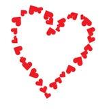 Coeur rouge pour le jour et le mariage de Valentines Photographie stock
