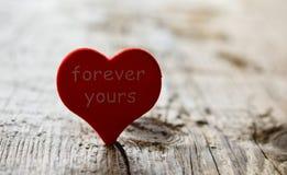 Coeur rouge pour toujours le vôtre mélancolie de peine de tristesse photos libres de droits