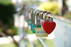 Coeur rouge principal, concept de l'amour et Valentine& x27 ; jour de s Photographie stock libre de droits