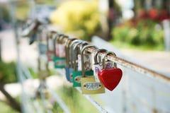 Coeur rouge principal, concept de l'amour et Valentine& x27 ; jour de s Photographie stock