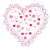 Coeur rouge romantique Images stock