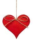 Coeur rouge s'arrêtant en amorçage Image stock