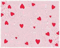 Coeur rouge sans couture Photographie stock libre de droits
