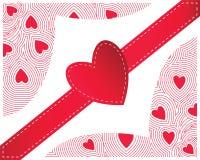 Coeur rouge sans couture Photos stock