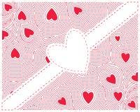 Coeur rouge sans couture Photo libre de droits