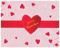 Coeur rouge sans couture Photographie stock
