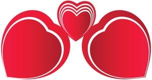 Coeur rouge sans couture Image libre de droits