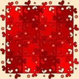 Coeur rouge sans couture de puzzle Image stock