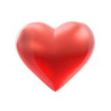 Coeur rouge sur le blanc illustration stock