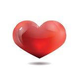 Coeur rouge, sur le fond blanc, vecteur Photo libre de droits