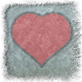 Coeur rouge sur le fond de papier grunge abstrait Photos libres de droits