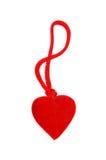 Coeur rouge sur un blanc Photos libres de droits