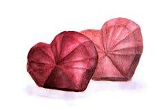 Coeur rouge sur un fond blanc illustration de vecteur