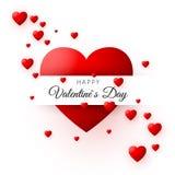 Coeur rouge - symbole de l'amour Carte ou bannière de jour de valentines Modèle pour la conception d'affiche et d'emballage Illus Images stock