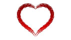 Coeur rouge - texture comme une épine illustration libre de droits
