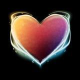 Coeur rougeoyant Photos libres de droits