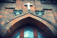 Coeur sacré croisé d'église catholique de Jésus Photos libres de droits