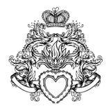 Coeur sacré de Jésus avec des rayons Isola de noir d'illustration de vecteur illustration stock