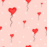 Coeur sans joint de ballons Photo libre de droits
