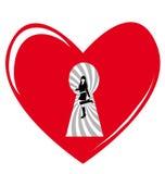 Coeur secret Photographie stock