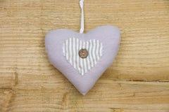 Coeur simple de coton Photo libre de droits