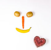 Coeur souriant Images stock