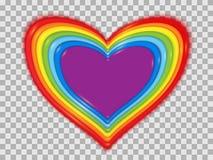 Coeur stylisé d'arc-en-ciel des bonbons image libre de droits