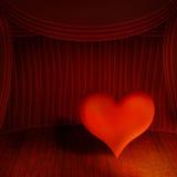 Coeur sur l'étape illustration stock
