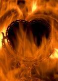 Coeur sur l'incendie Photographie stock