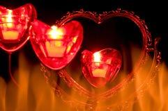 Coeur sur l'incendie Image stock