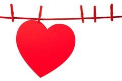 Coeur sur la corde Photo stock