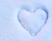 Coeur sur la neige Image libre de droits