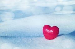Coeur sur la neige Photographie stock