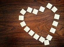 Coeur sur la table Images stock