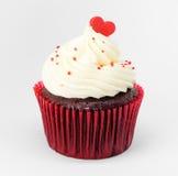 Coeur sur la valentine de petit gâteau Image libre de droits