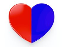 Coeur sur le blanc Photos stock
